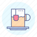 drink, mug, tea, teabag icon