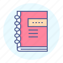 diary, journal, notepad, workbook icon