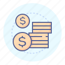coin, money, payment, savings icon