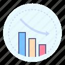 business, decrease, fall, statistics
