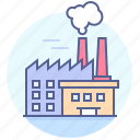 factory, industry, plant, pollution icon