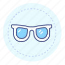 glasses, lens, optics, vision icon
