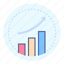 business, growth, increase, statistics icon