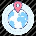 destination, location, map, point