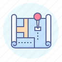 address, map, mark, point icon