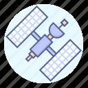 orbit, satellite, space, transmission icon