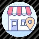 destination, location, mark, shop