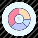 circle, diagram, percentage, statistics icon