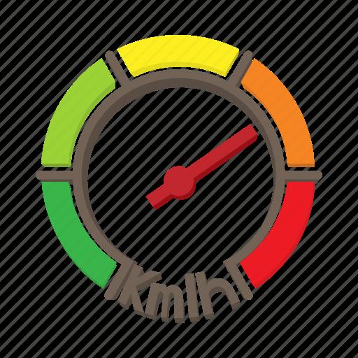 auto, car, cartoon, fast, meter, speed, speedometer icon