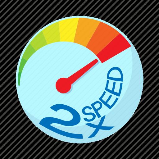 acceleration, cartoon, maximum, power, speed, speedometer icon