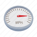 background, car, cartoon, dashboard, gauge, speedometer, technology icon