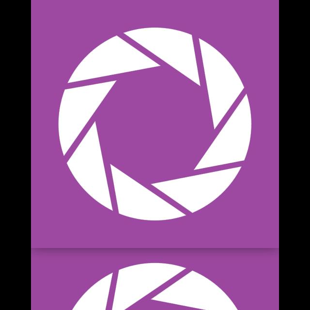 aperture, mirror icon