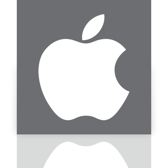 apple, mirror icon