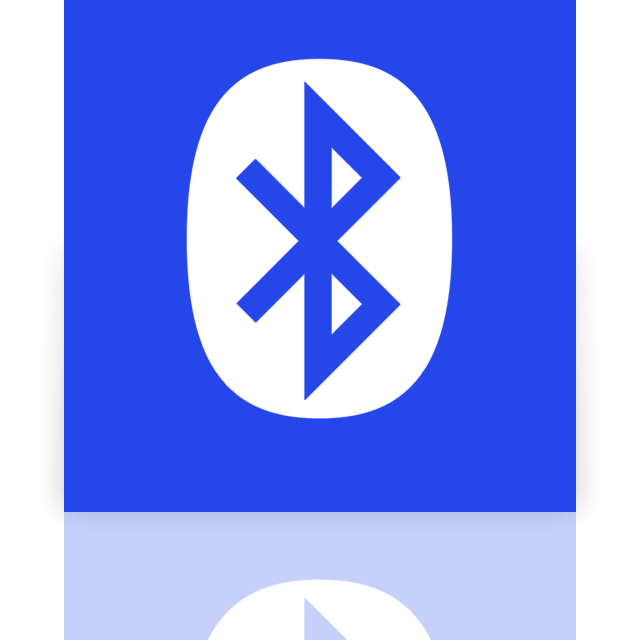bluetooth, mirror icon