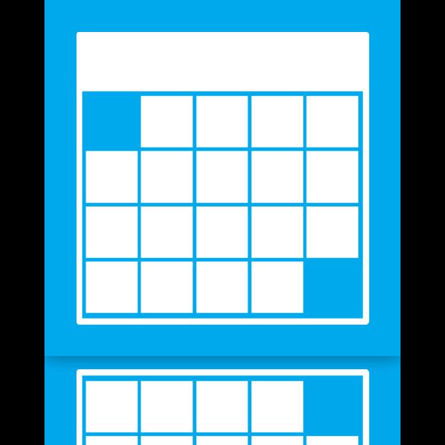 calendar, mirror