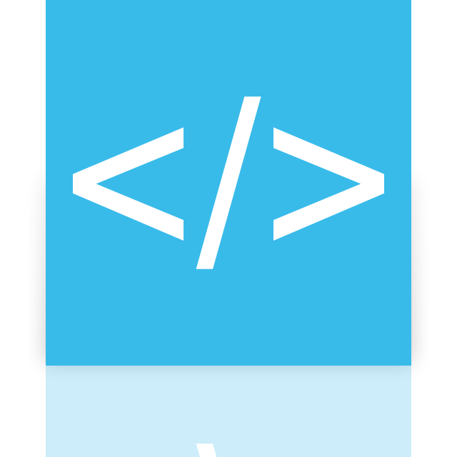 app, coding, mirror icon