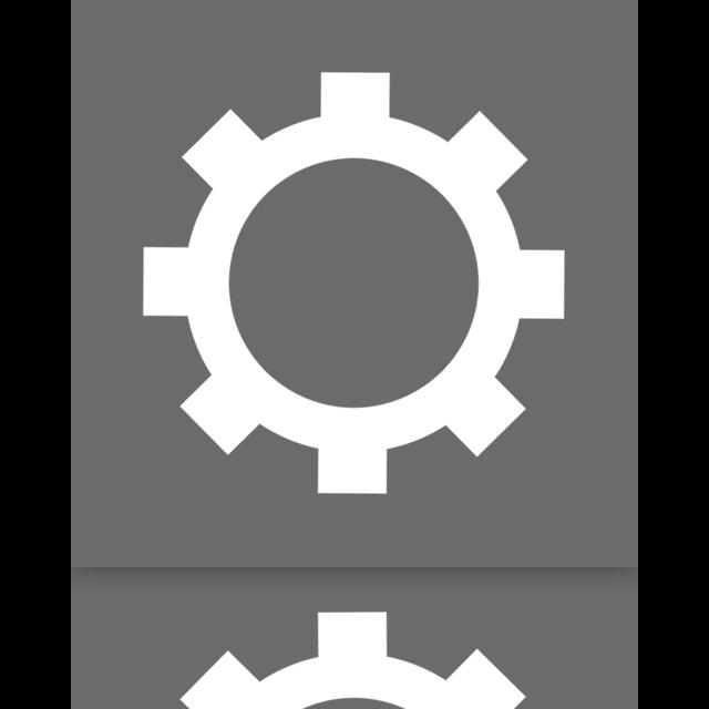 configure, mirror icon