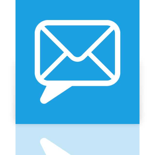 chat, email, mirror icon