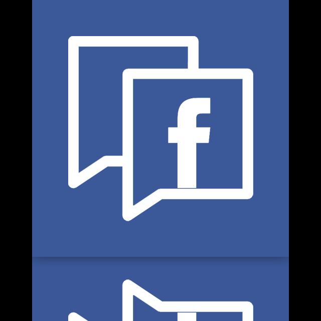 facebook, mirror icon