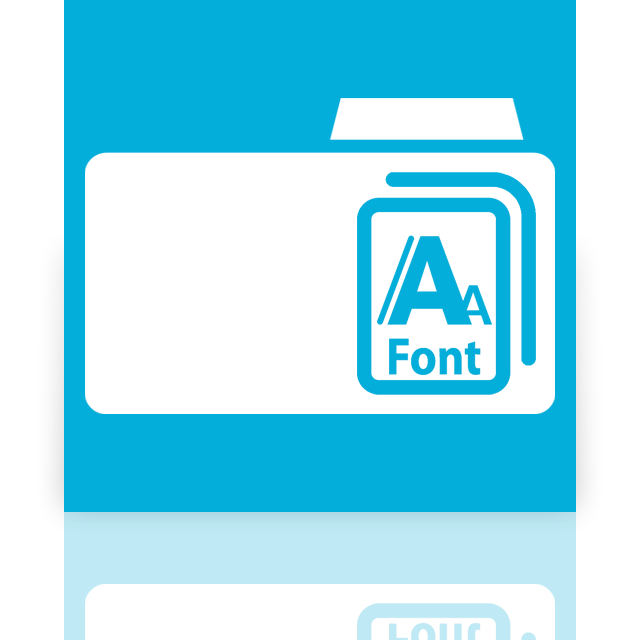fonts, mirror icon