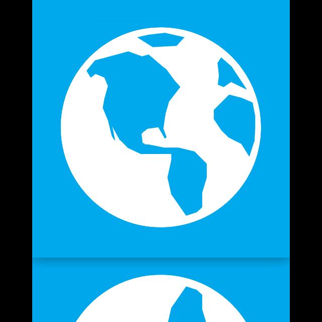 globe, mirror icon