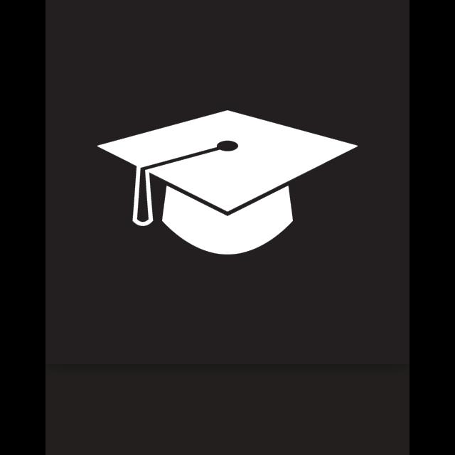 graduation, mirror icon
