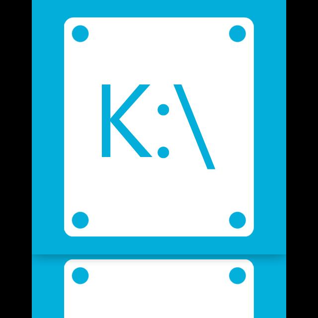 k, mirror icon