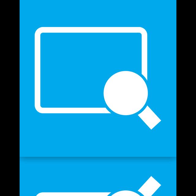 magnifier, mirror icon