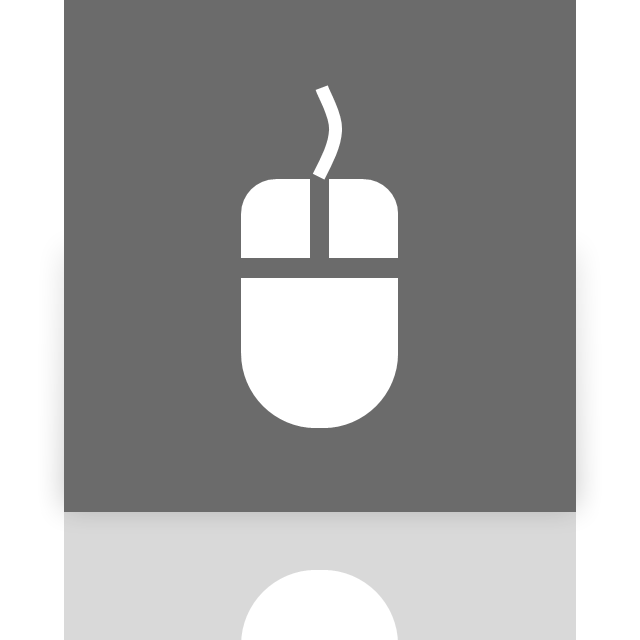 mirror, mouse, options icon