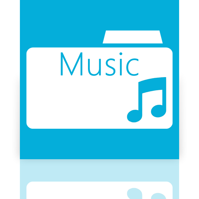 folder, mirror, music icon