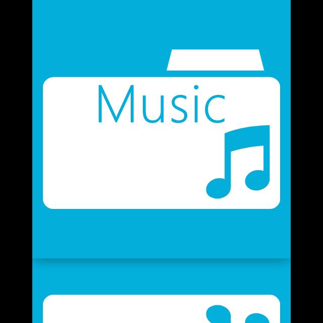 folder, mirror, music icon