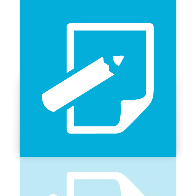 mirror, notepad icon