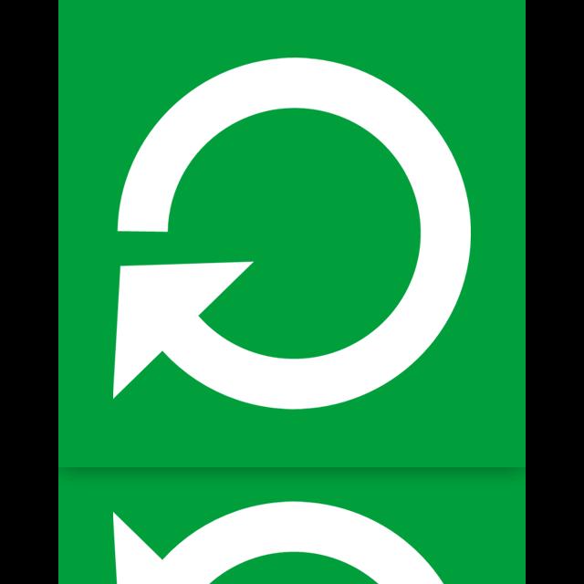 mirror, power, restart icon