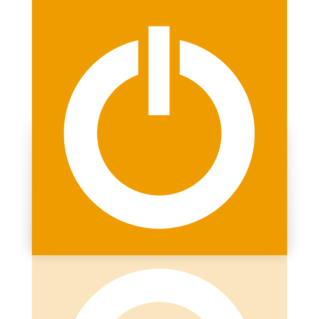 mirror, power, standby icon