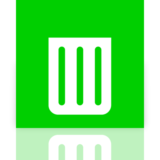 bin, empty, mirror, recycle icon