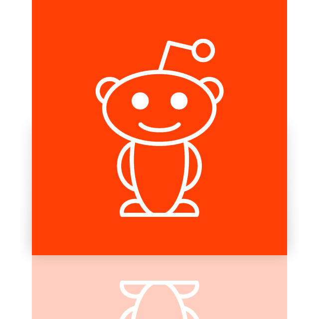 mirror, reddit icon