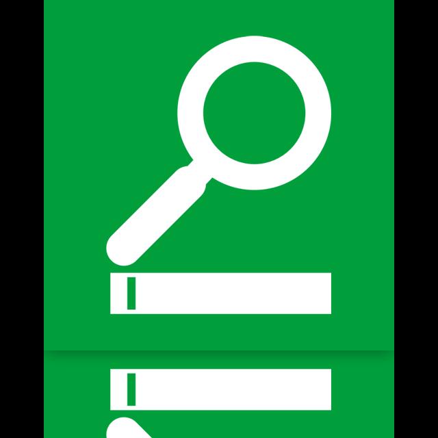 mirror, search icon