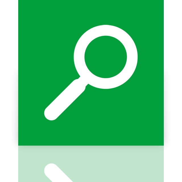 mirror, search icon