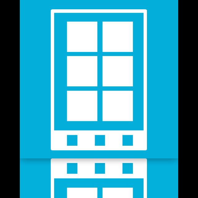 mirror, phone, smart icon