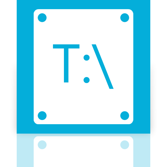 mirror, t icon