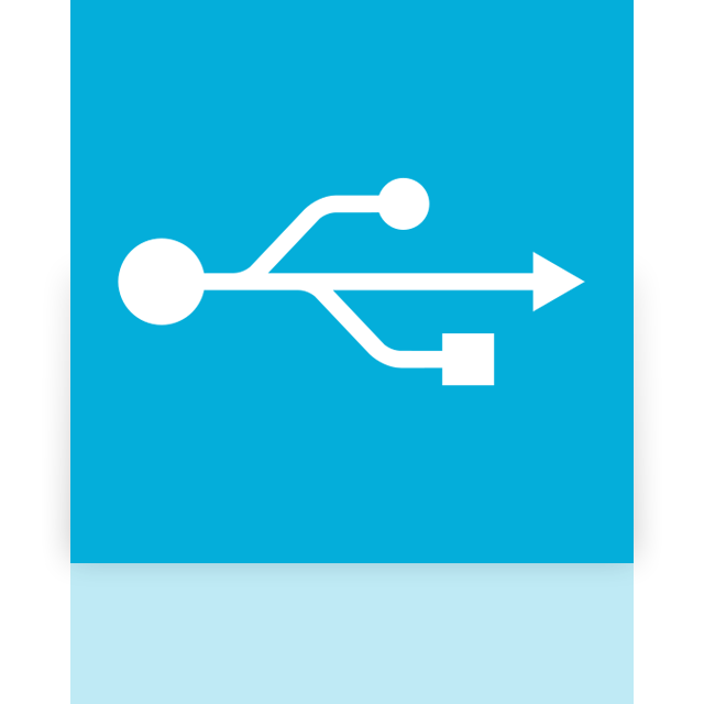 mirror, usb icon