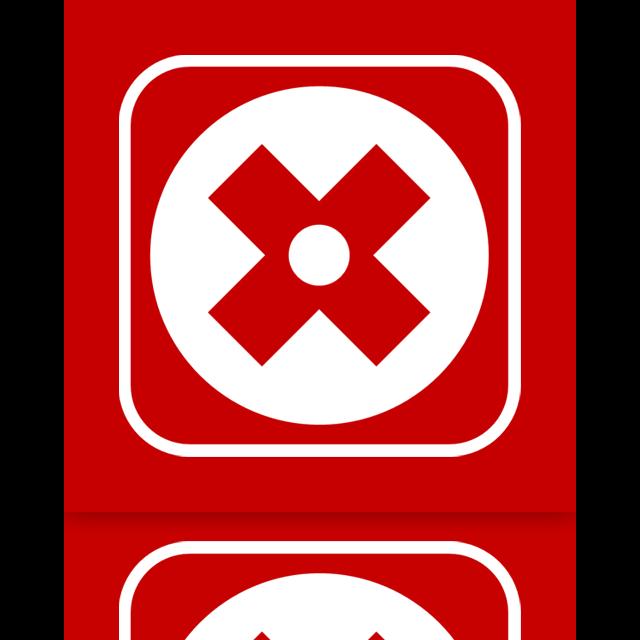 mirror, uninstall icon