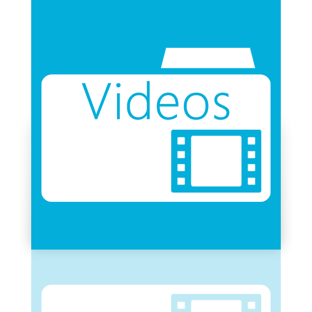 folder, mirror, videos icon