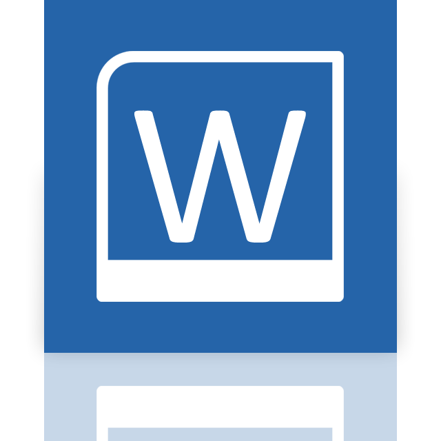 mirror, word icon