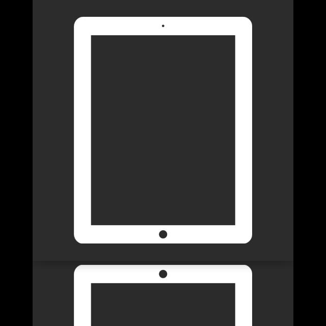 ipad, mirror icon