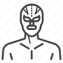 lucha libre, mexican, wrestling, mask, traditional, macho icon