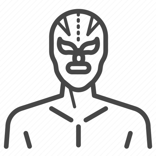 lucha libre, macho, mask, mexican, traditional, wrestling icon