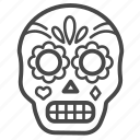 mexican, skull, mexico, calavera, traditional, day of the dead, muertos icon