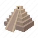 ancient, cartoon, mayan, mexican, mexico, pyramid, ruin icon
