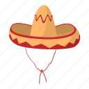 cartoon, culture, hat, latin, mexican, mexico, sombrero icon